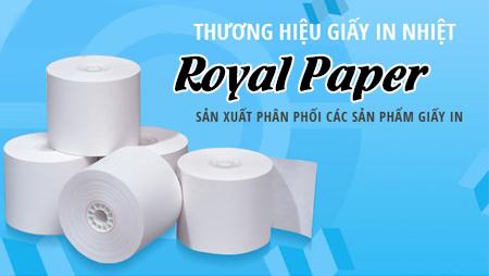 Giới thiệu giấy in hóa đơn thương hiệu Royal Paper