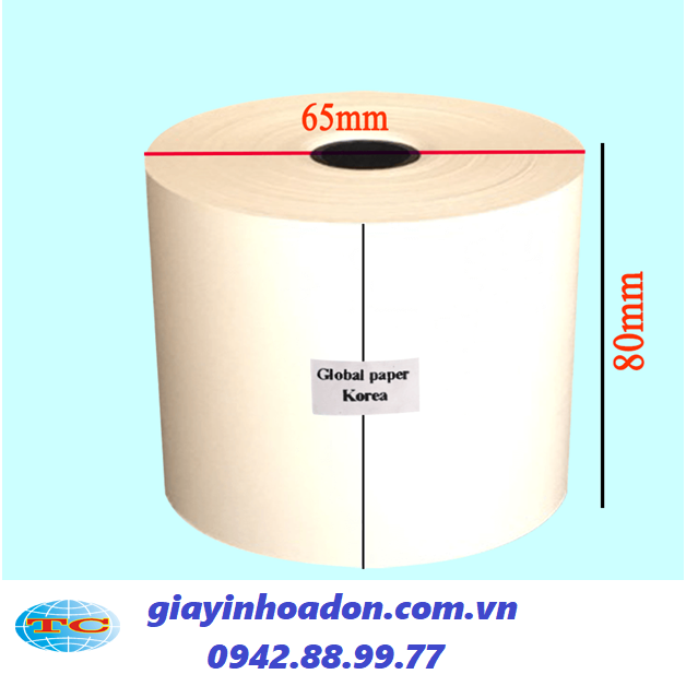 giấy in nhiệt k80x65 mm