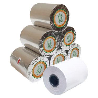 giấy in nhiệt bọc bạc khổ K57 phi 30 mm